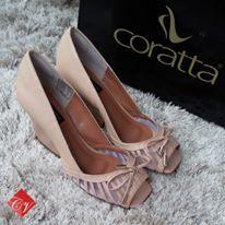 Sapato Peep Toe Coratta