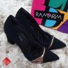Sapato feminino Scarpin Ramarim Zíper Total Confort 1446103