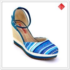 Sapato Feminino Anabela Piccadilly 423009 azul